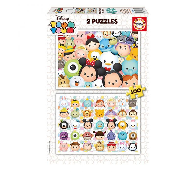 Educa Disney Tsum Tsum puzzle, 2X100 darabos